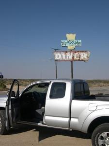 020 Hi Vista Diner Sign Outside of Lancaster